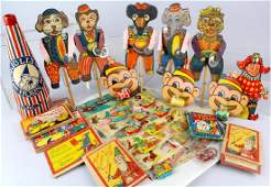 German  Japan Paper Litho Party Toys Watches