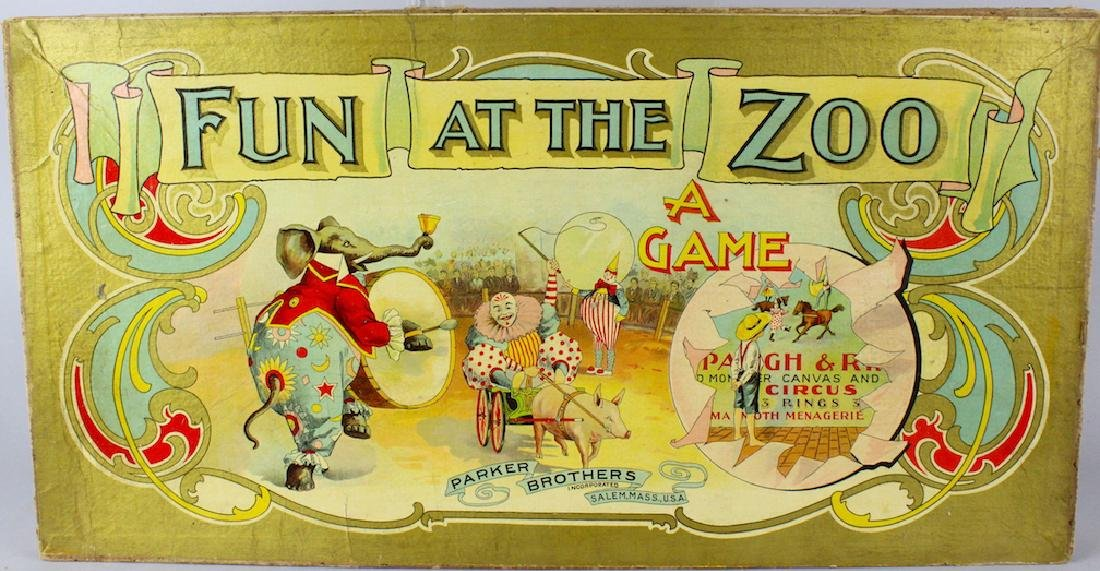 1890s Circus & Zoo Games & Mother Goose