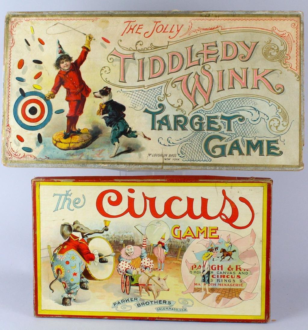 Parker Bros. Circus & McLoughlin Target Game