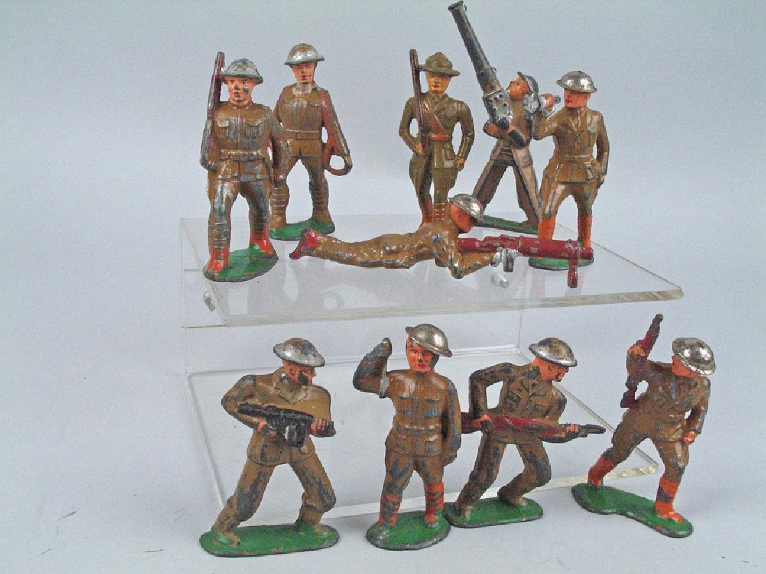 Manoil Soldier Lot Cast d