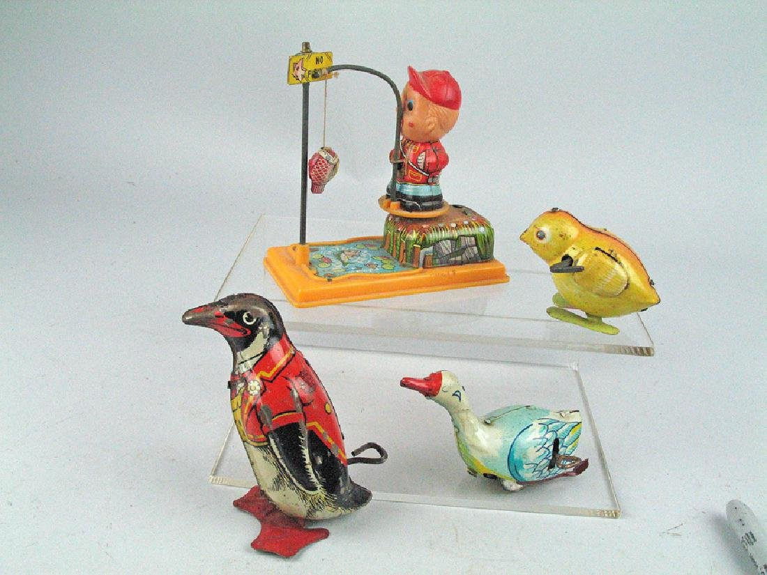 J Chein & Japan Tin Litho Wind Up Celluloid