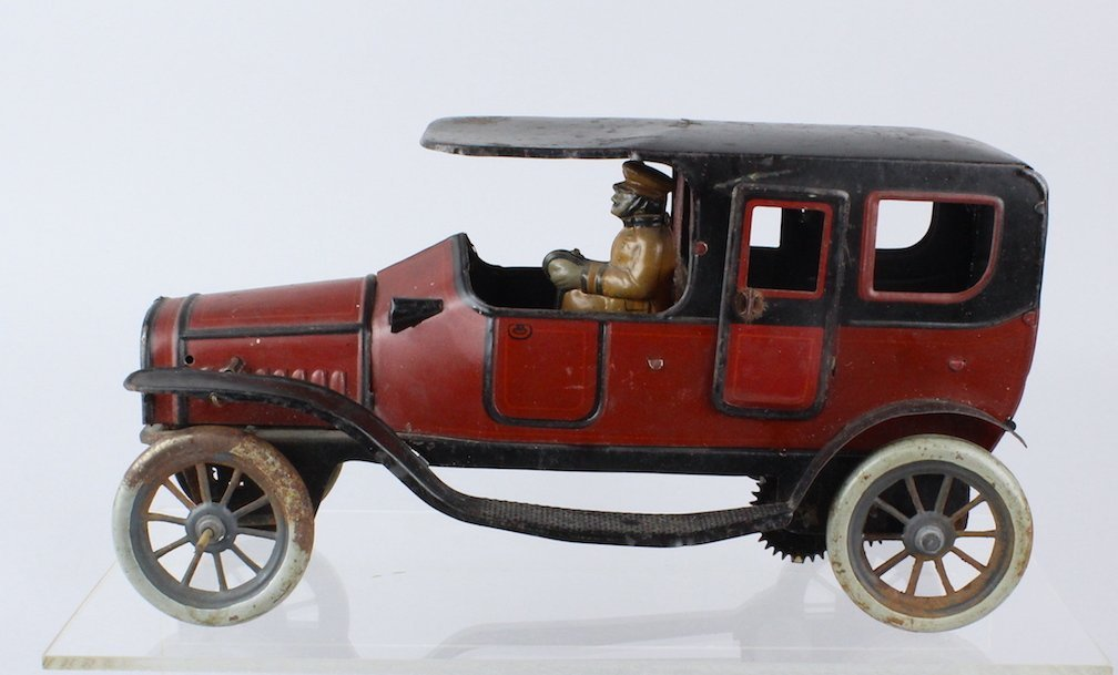 1920s Karl Bub German Tin Limousine & Driver 11 inches