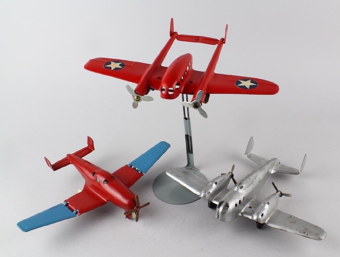 3 Wyandotte Pressed Steel Airplanes