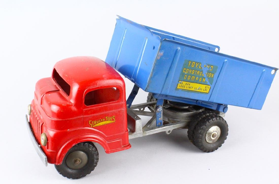 Structo Toyland Construction Co WInd Up Dump Truck