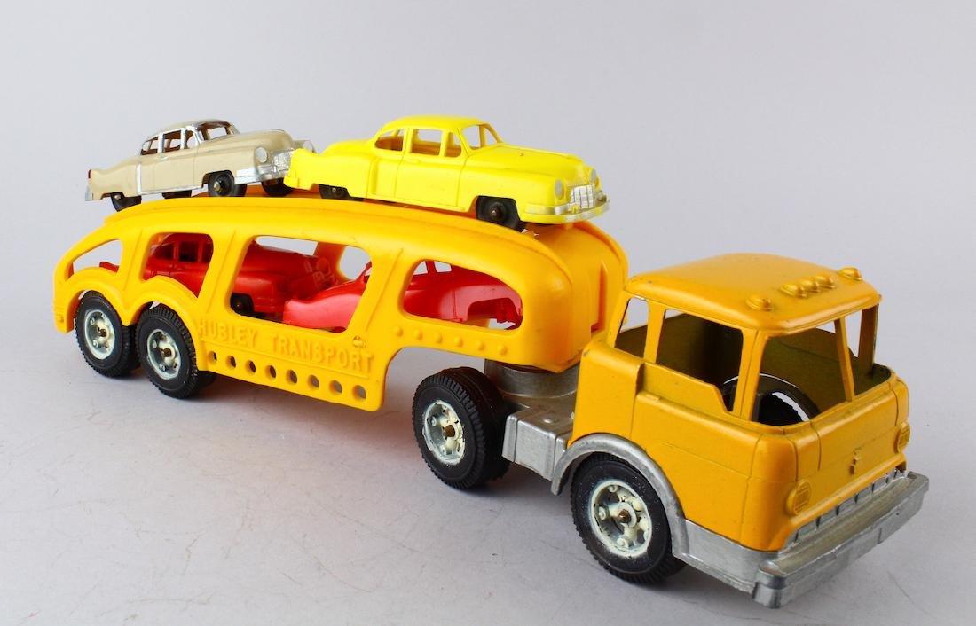 Hubley Transport Car Carrier & 4 Cars