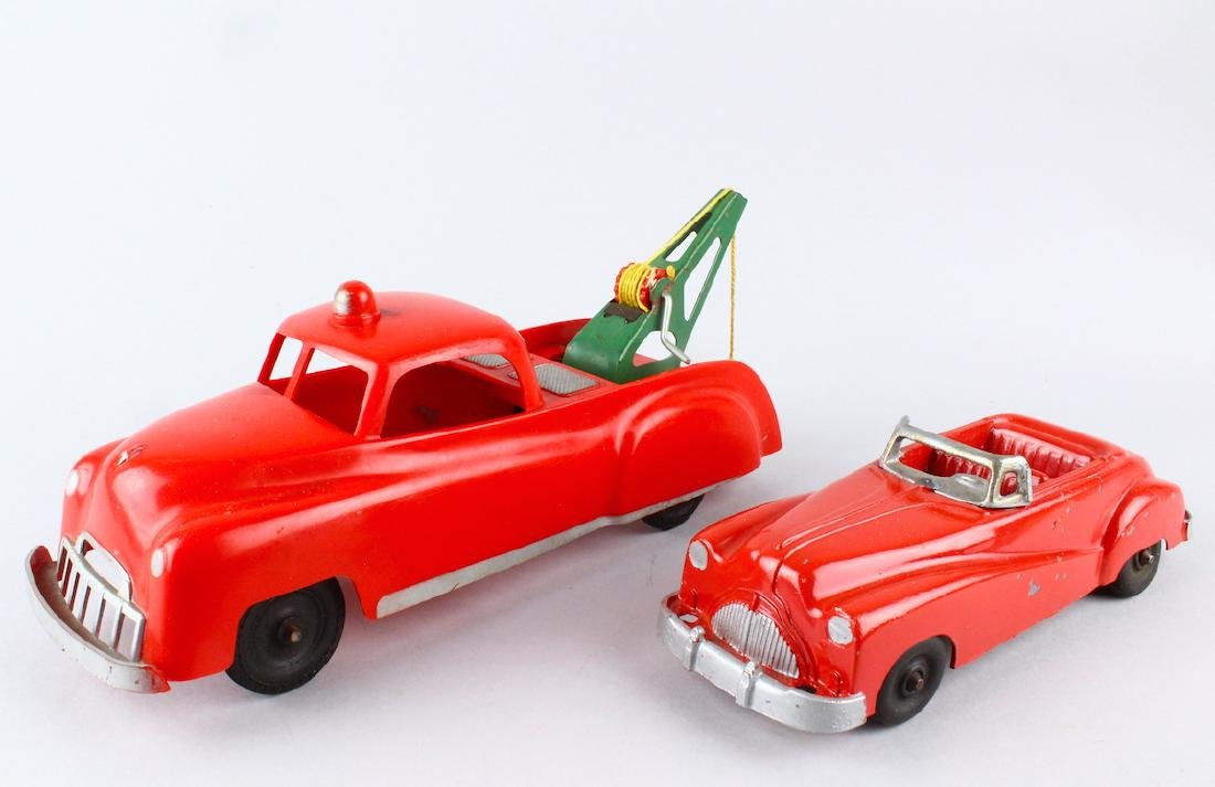 1950s Wrecker Truck and Coupe