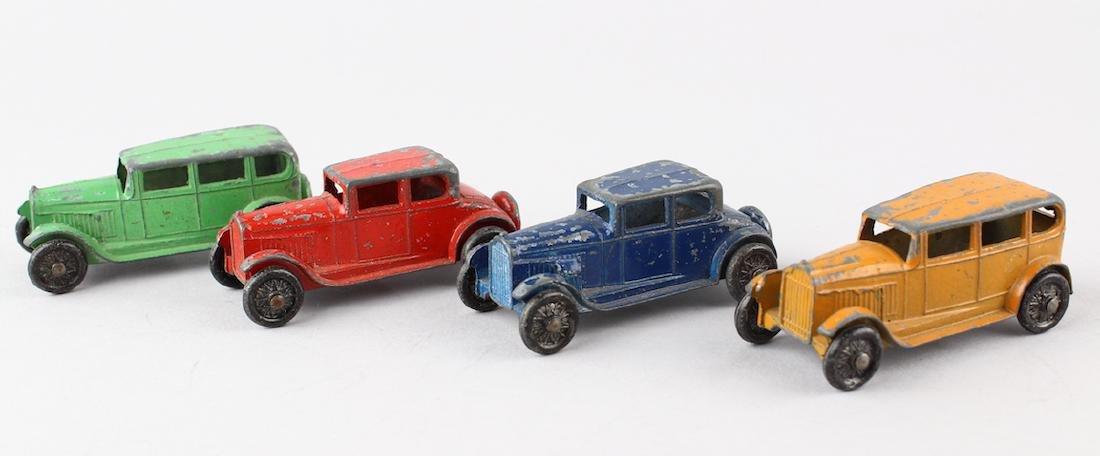 Four 1930s Tootsietoy Car Lot
