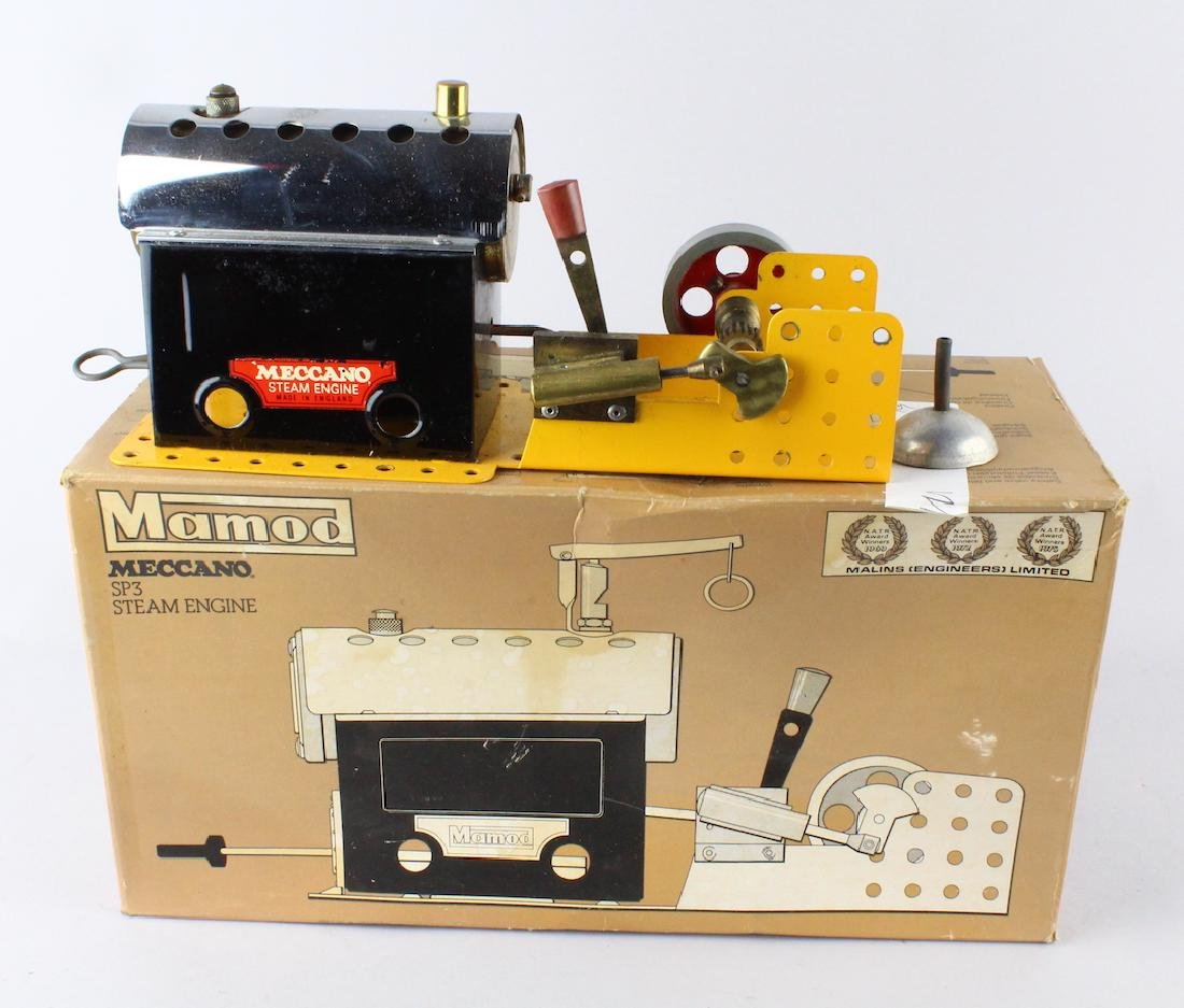 Mamod Meccano SP3 Steam Engine In Box