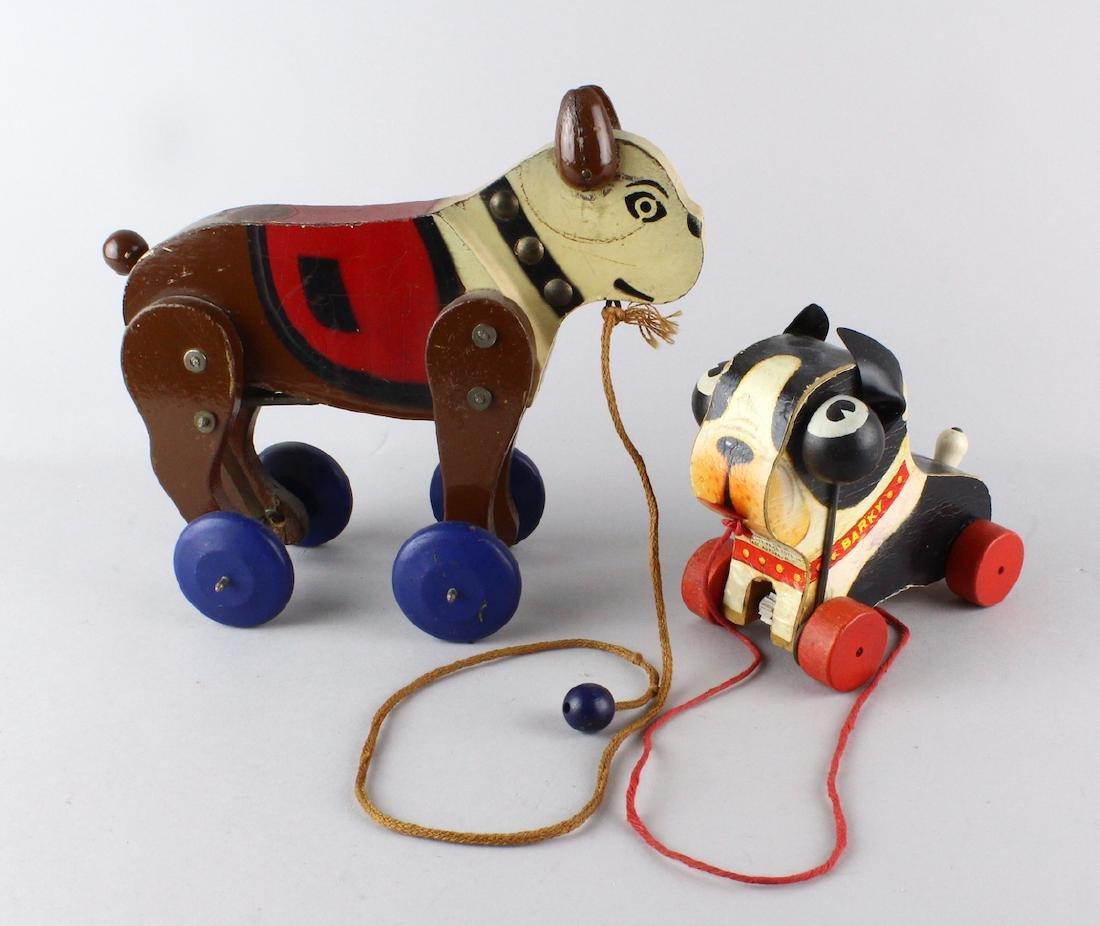 Bull Dog & Fisher Price Barky Dog Pull Toys.