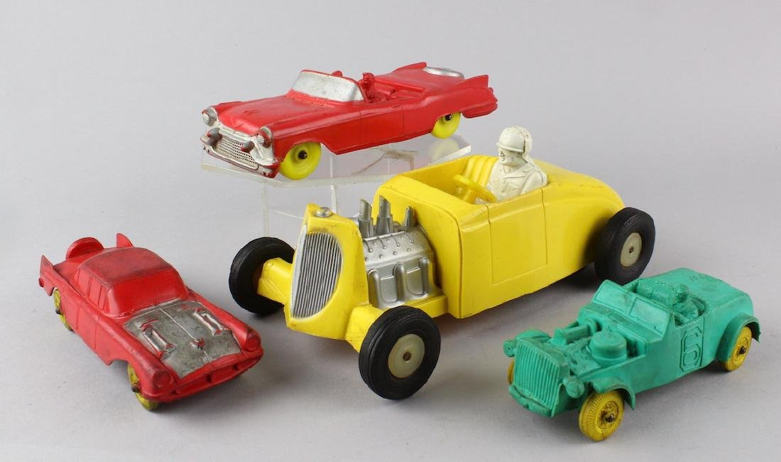 1950s Rubber Hot Rod Cars