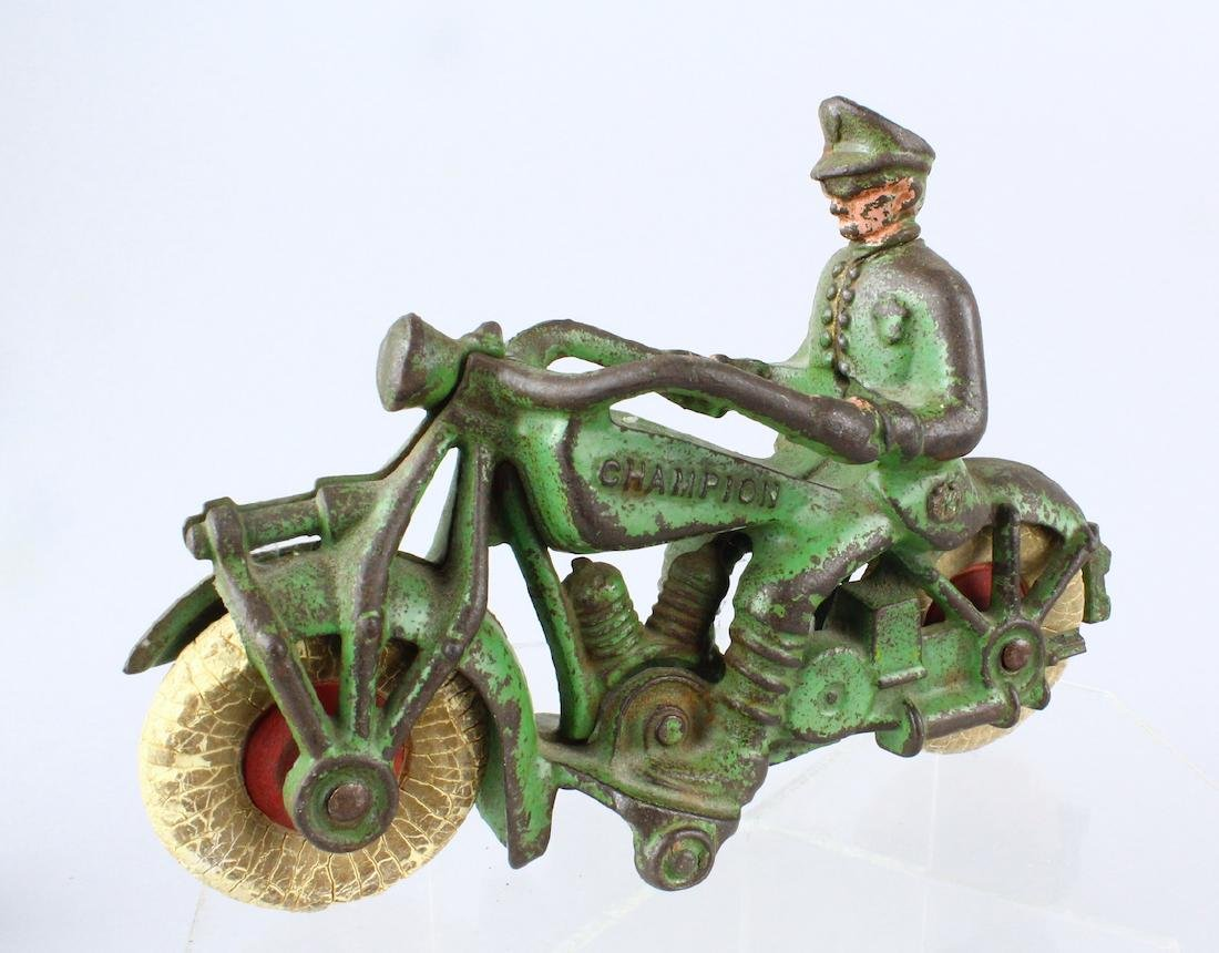 Champion Cast Iron Motorcycle Cop Large