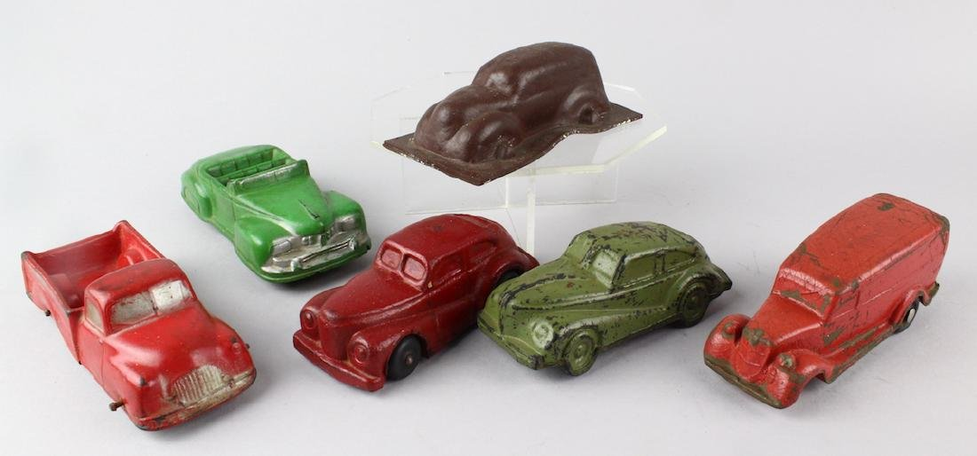 1930s Streamlined Autos & Orig Rubber Mold