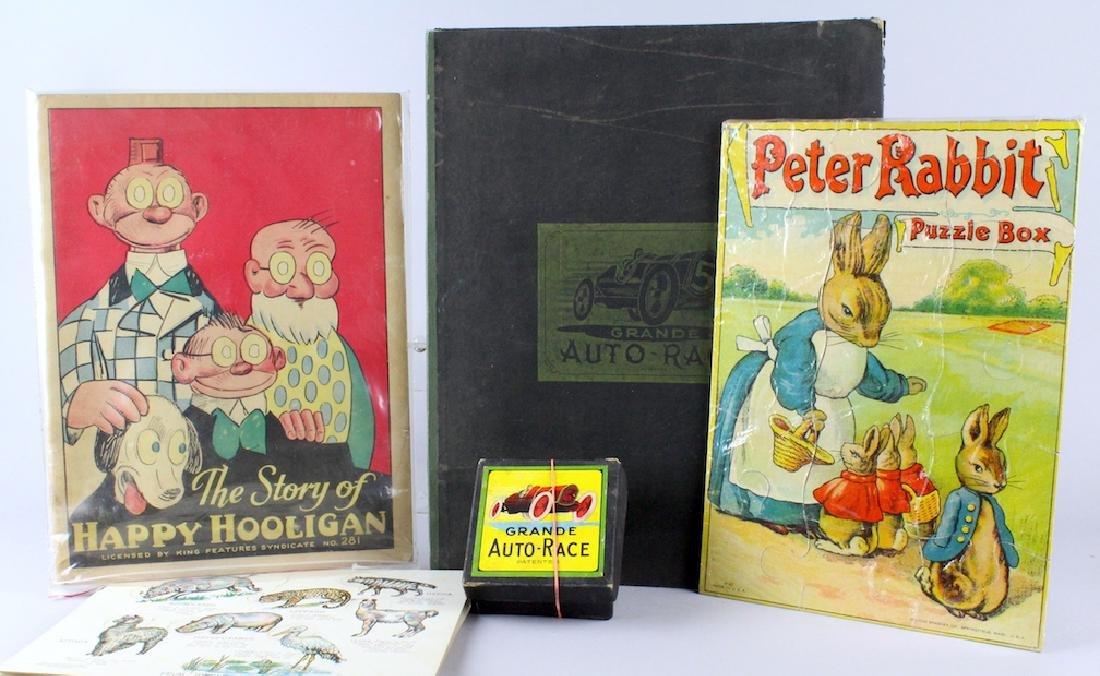 Auto Race Game Happy Hooligan & Peter Rabbit