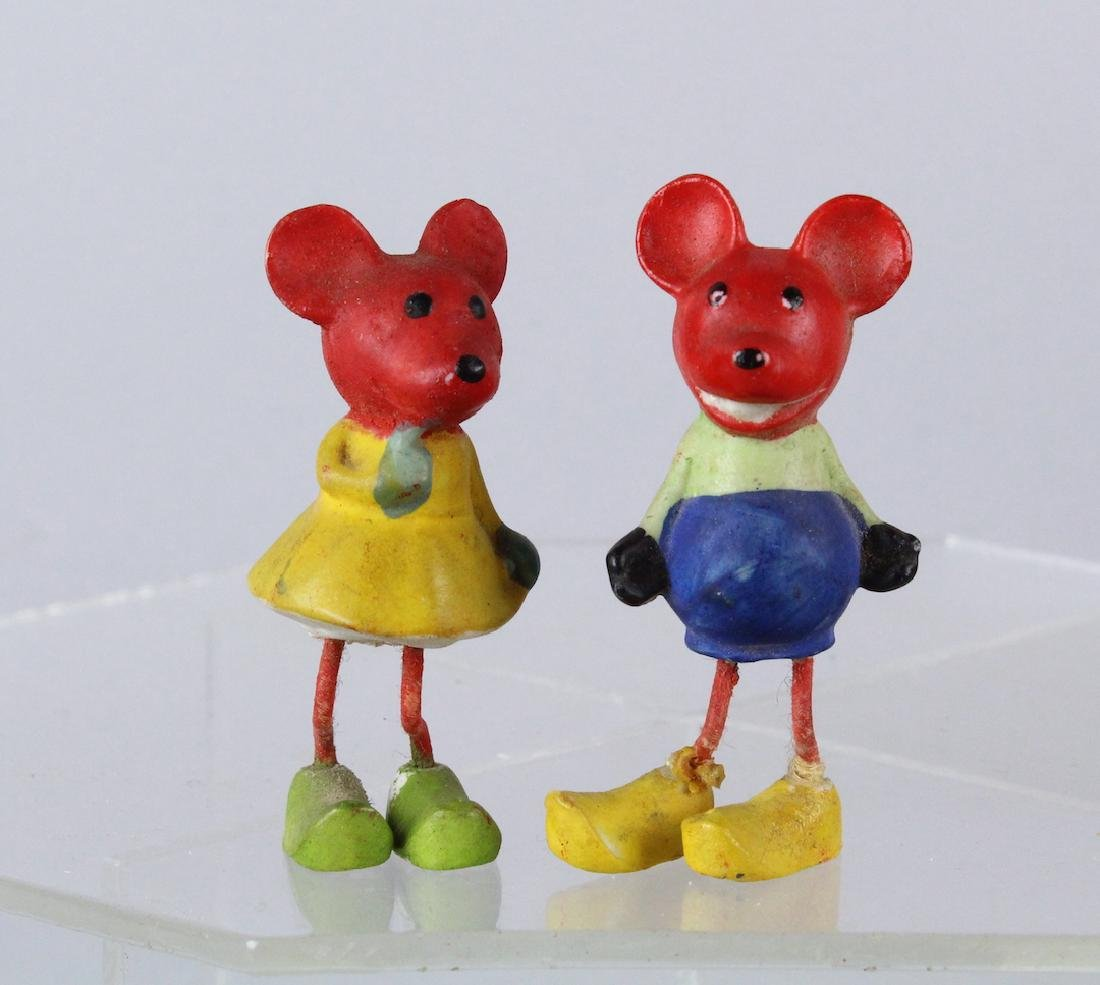 German Bisque Mickey & Minnie Mouse Toys