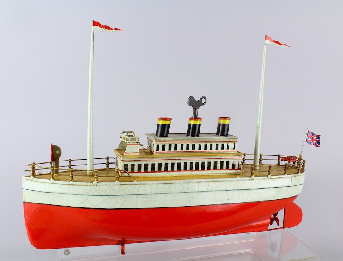 Stately Ocean Liner German Ship Carette/Bing