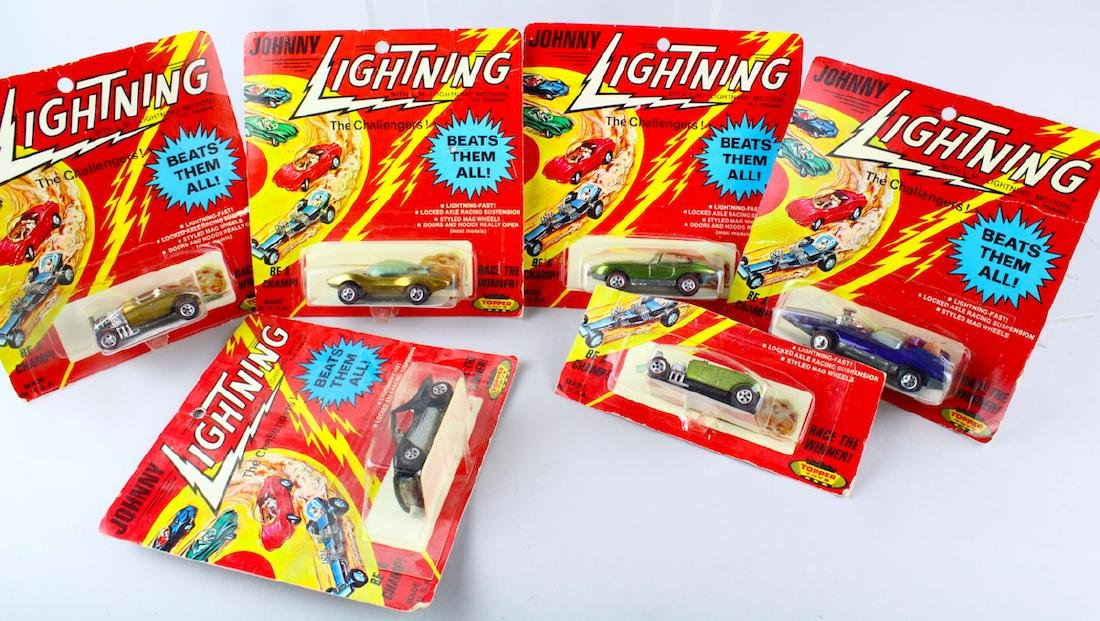 Six Johnny Lightning Cars Mint in Package