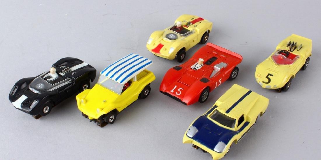 Aurora Slot Car T-Jets 6 Race Cars