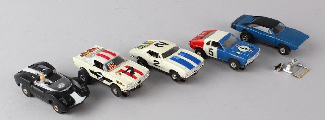 Aurora Slot Car T-Jets 5 Cars