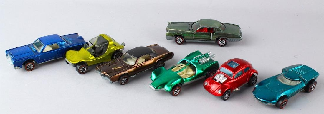 Six Hot Wheel Redline Cars & Johnny Lightning