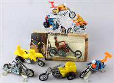 Eight Hot Wheels Rumblers Motorcycles