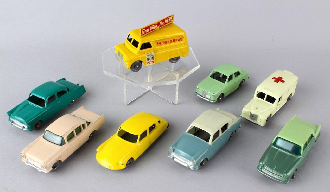 Eight Matchbox Grey Wheels Cars