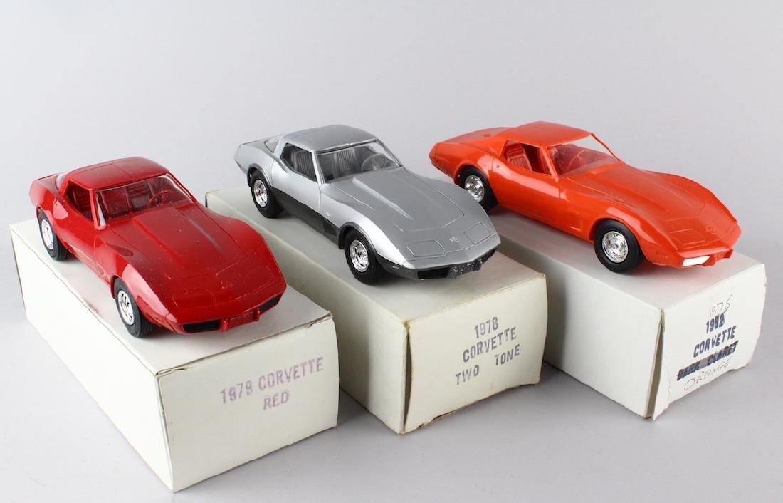 1975, 1978, 1979 Corvette Promo Models Mint