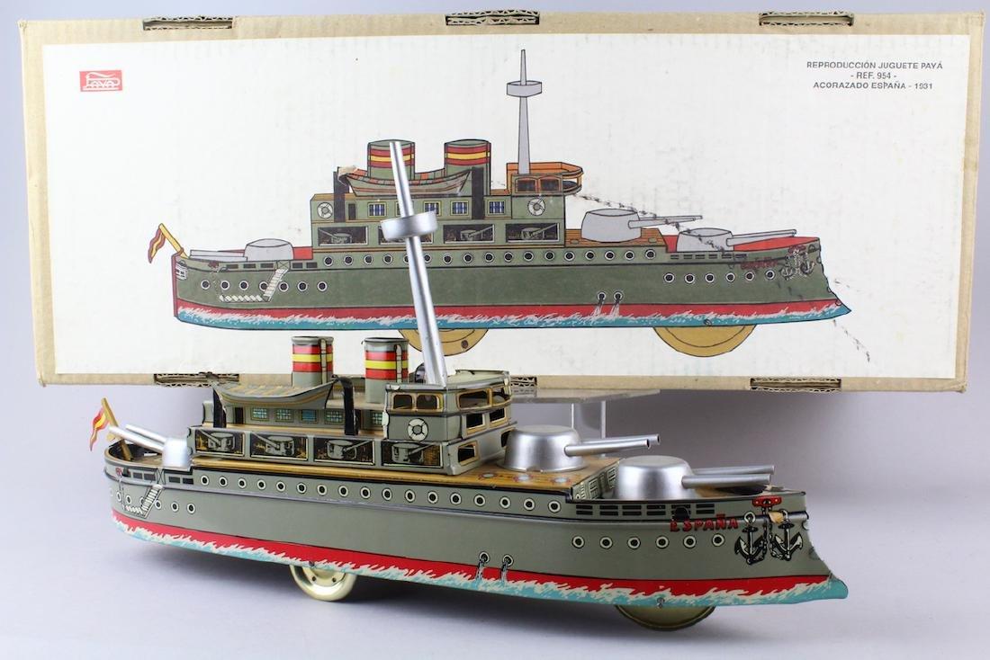 Paya Tin Espana Battle Ship In Box