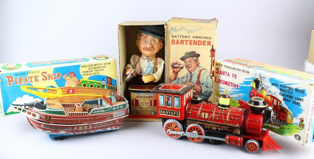 Three Boxed Battery Operated Toys Made in Japan