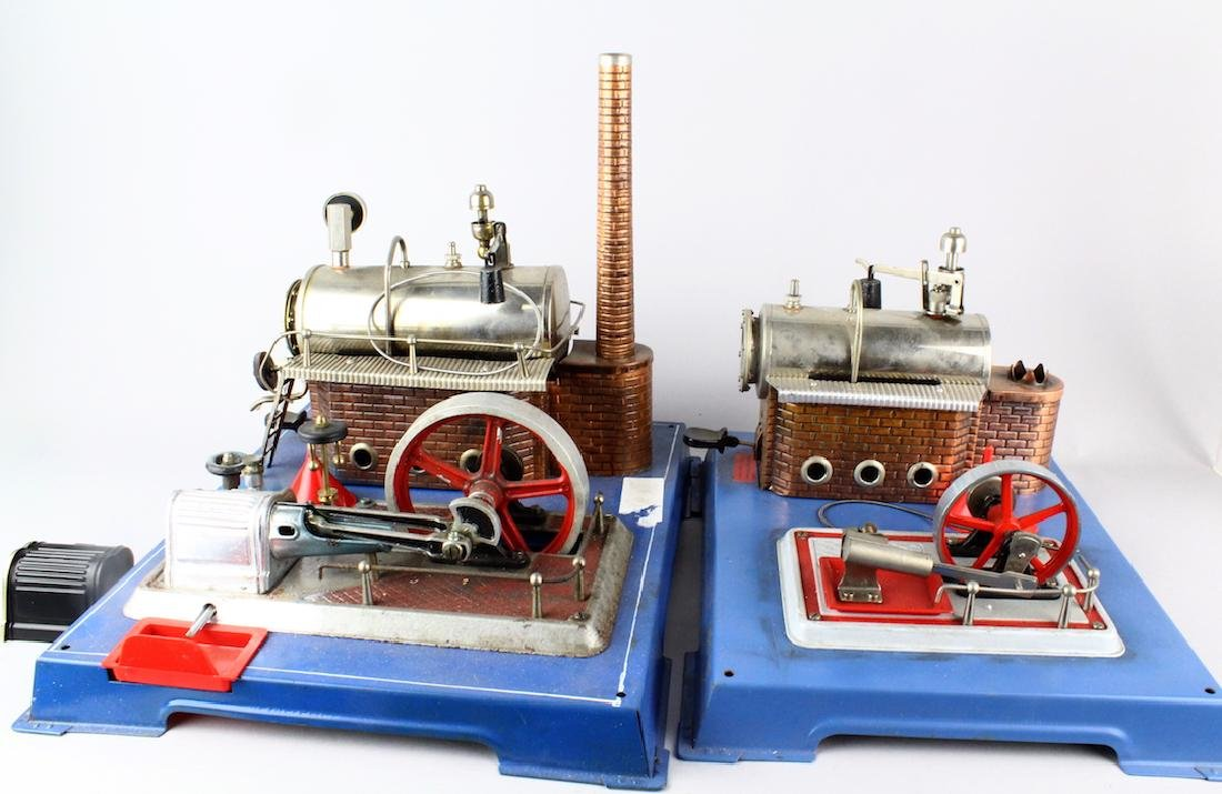 Two Wilesco German TIn Steam Engines