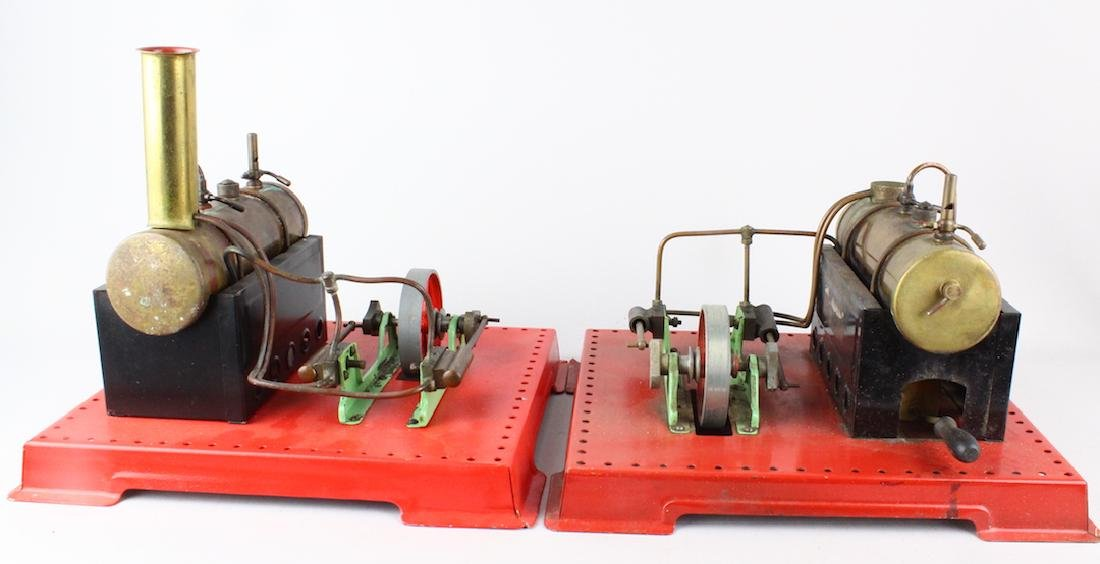 Two Mamod Brass Steam Engines