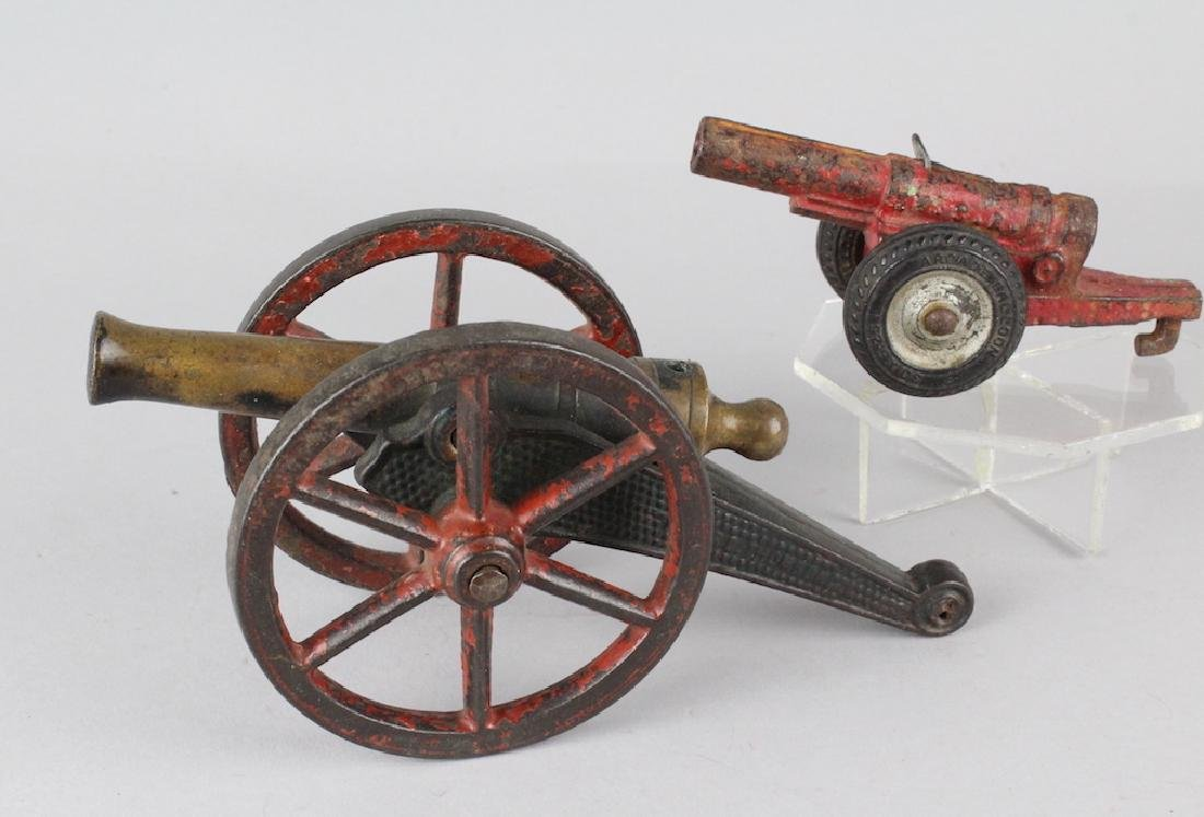 Arcade and Ives Cast Iron & Bronze Cannons