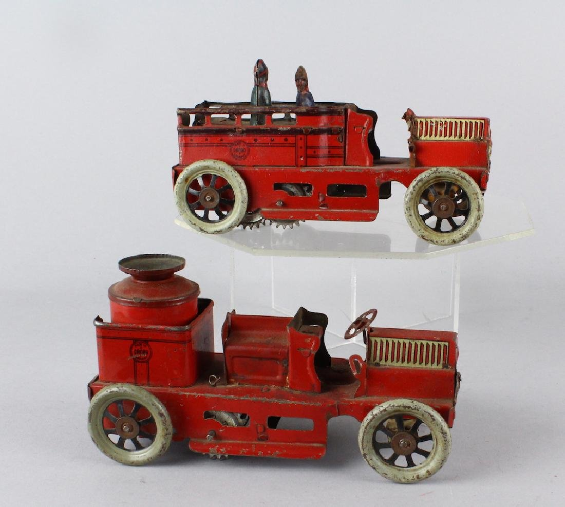 Orobr German Tin Fire Engines