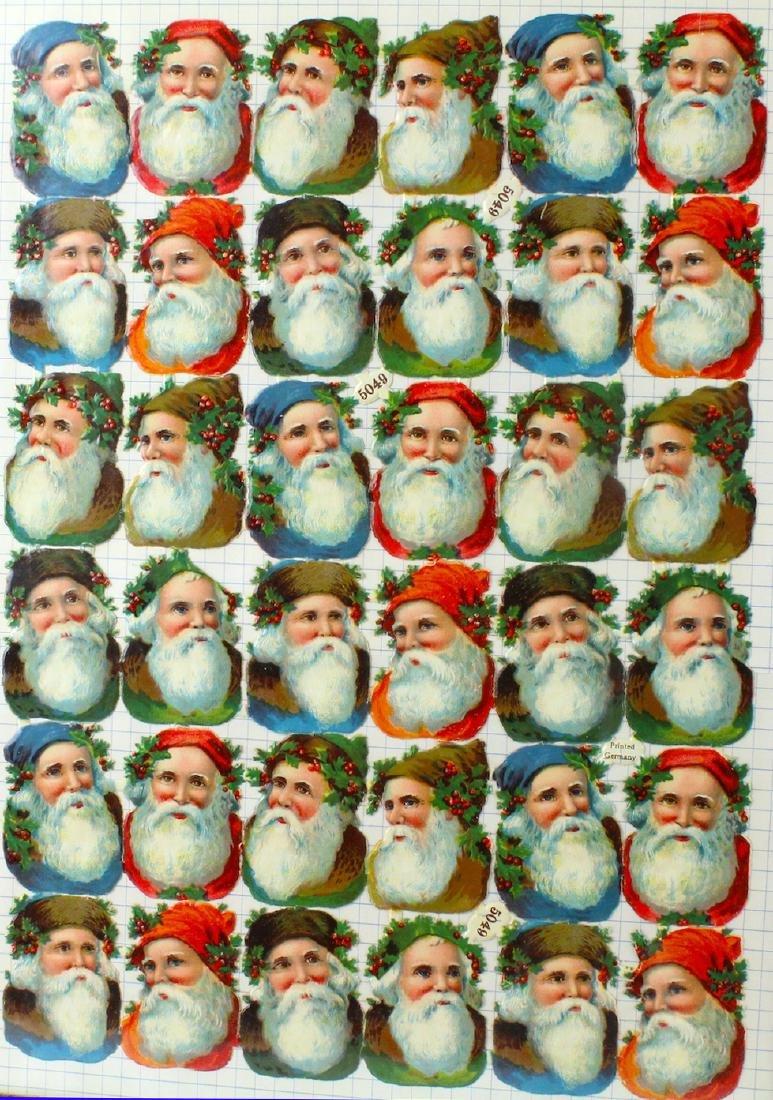 German Diecut Santa Claus Christmas Uncut Sheet