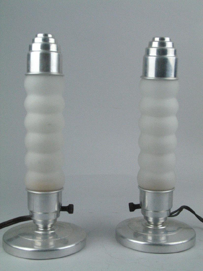 Mid Century Rocket Ship Lamps Pair