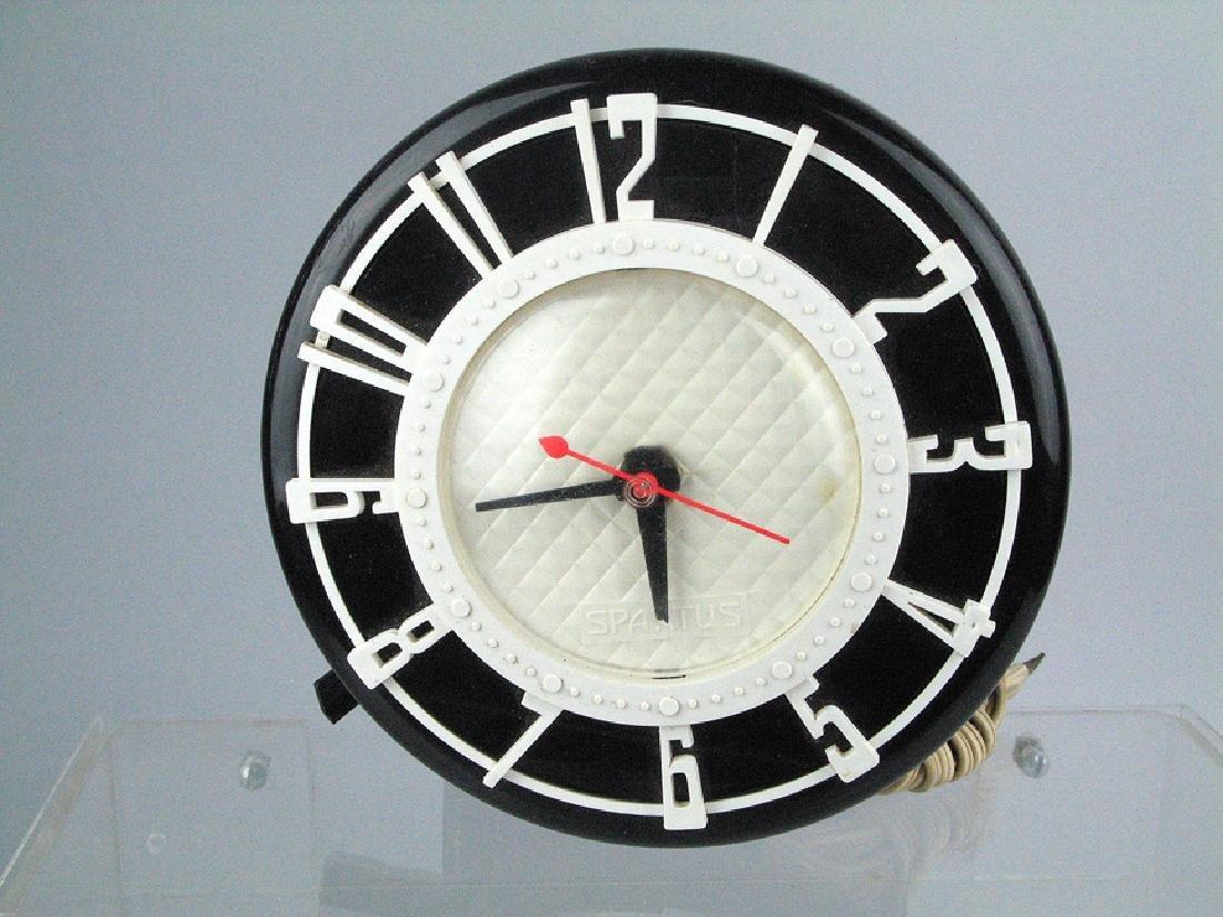 Spartus Wall Clock Mid Century
