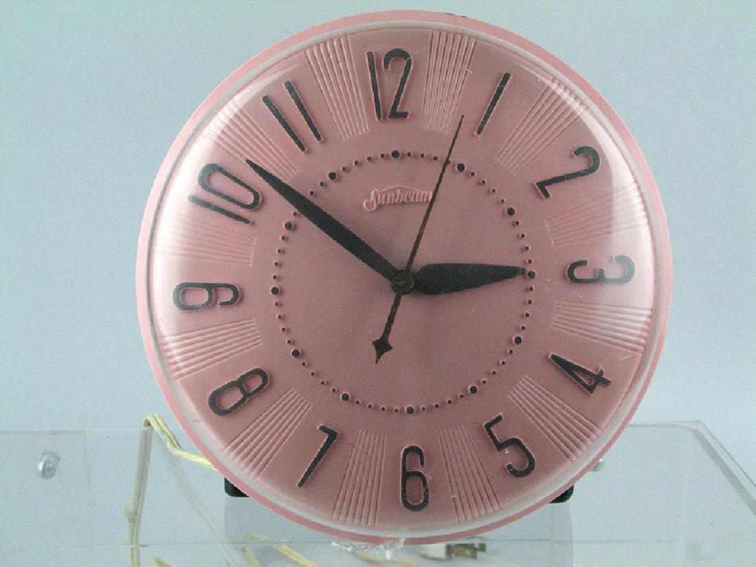 Sunbeam Mid Century Clock