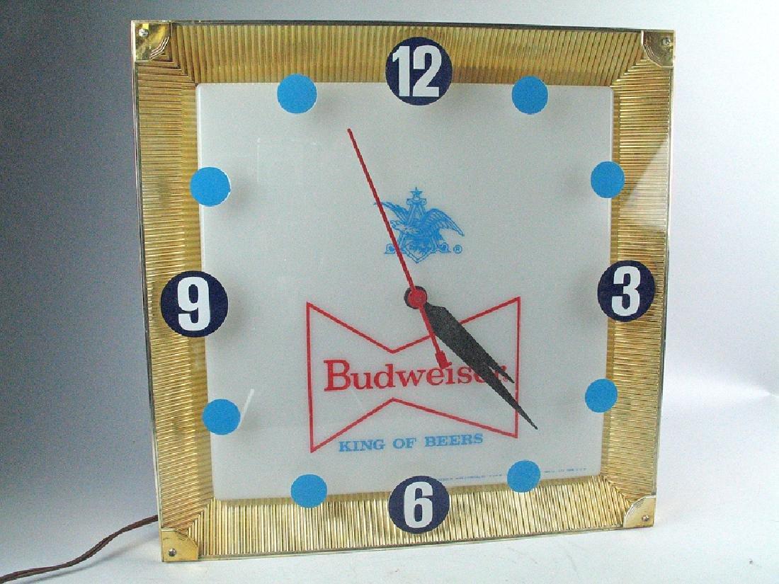 Budweiser Mid Century Advertising Clock