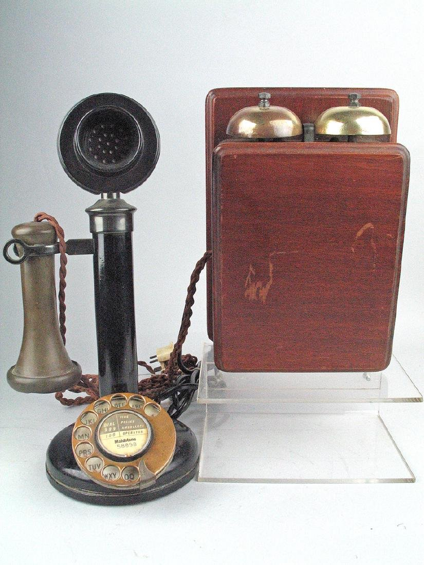 Candlestick Phone and Wall Ringer