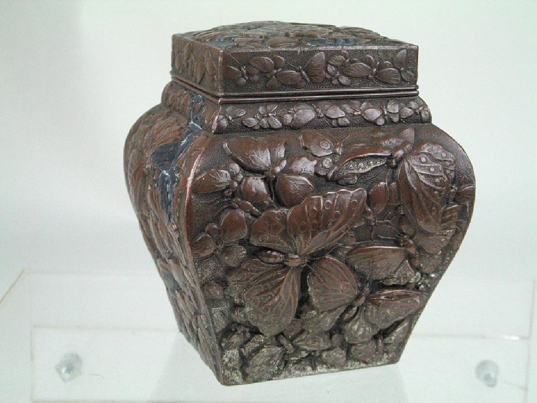 Japanese Meiji Period Tea Jar Bronze