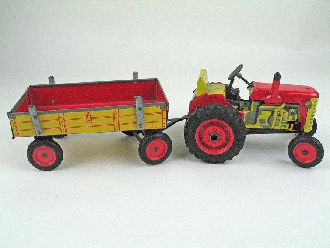 Alps Tin Litho Tractor in Box