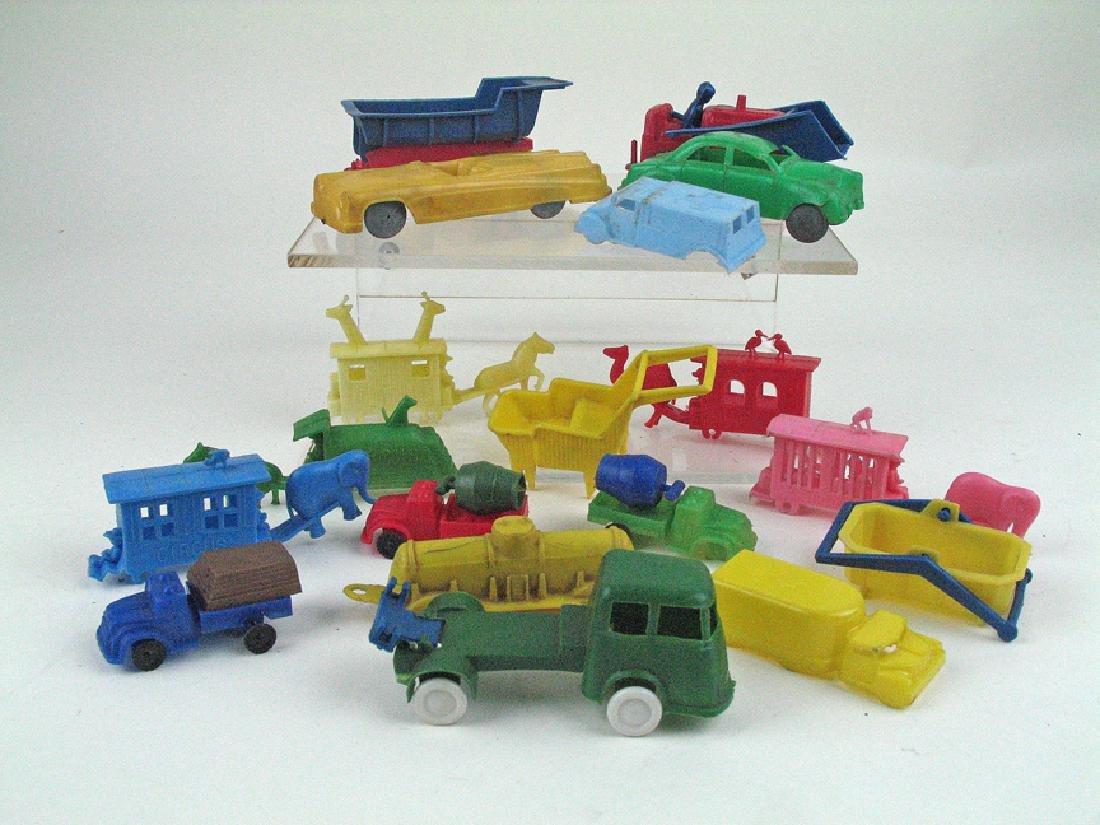1950s-60s Car and Truck Plastic Car Lot