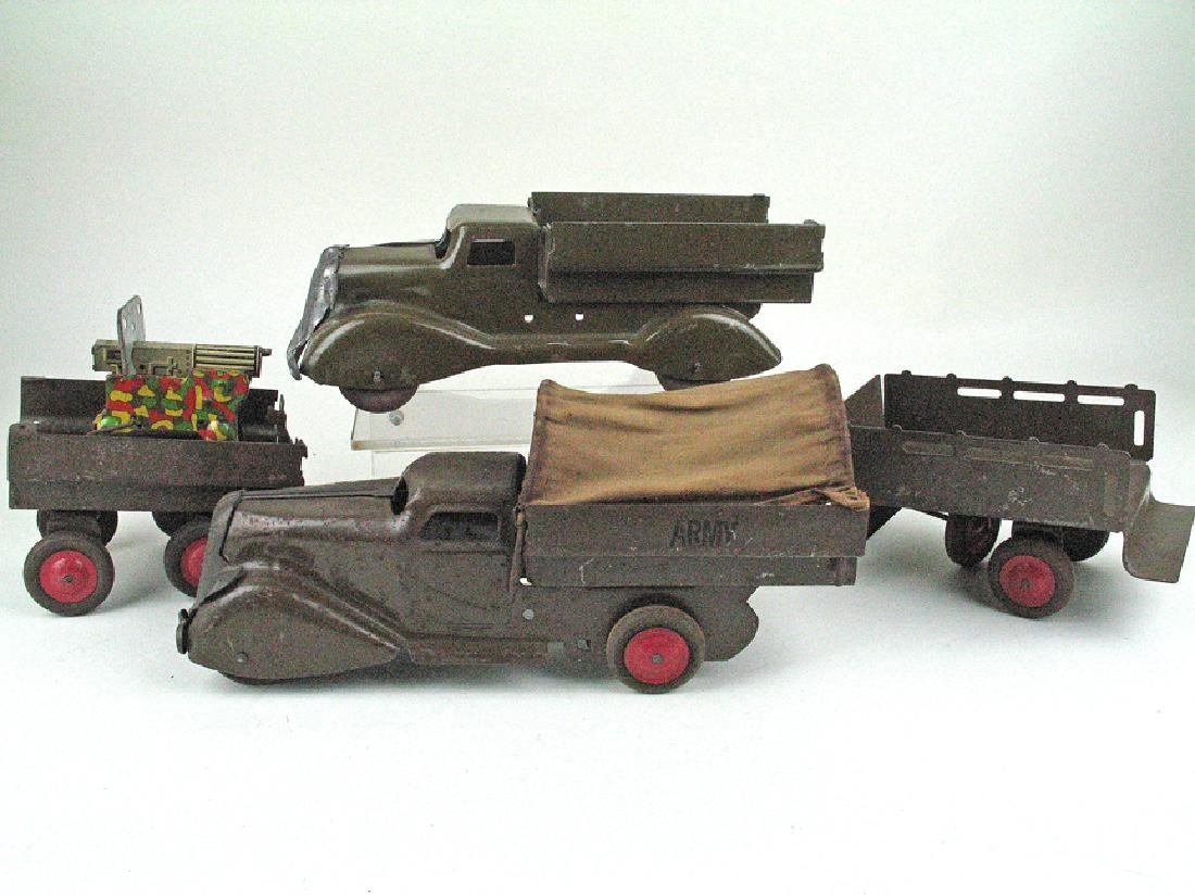 Marx Army Truck Set Pressed Steel