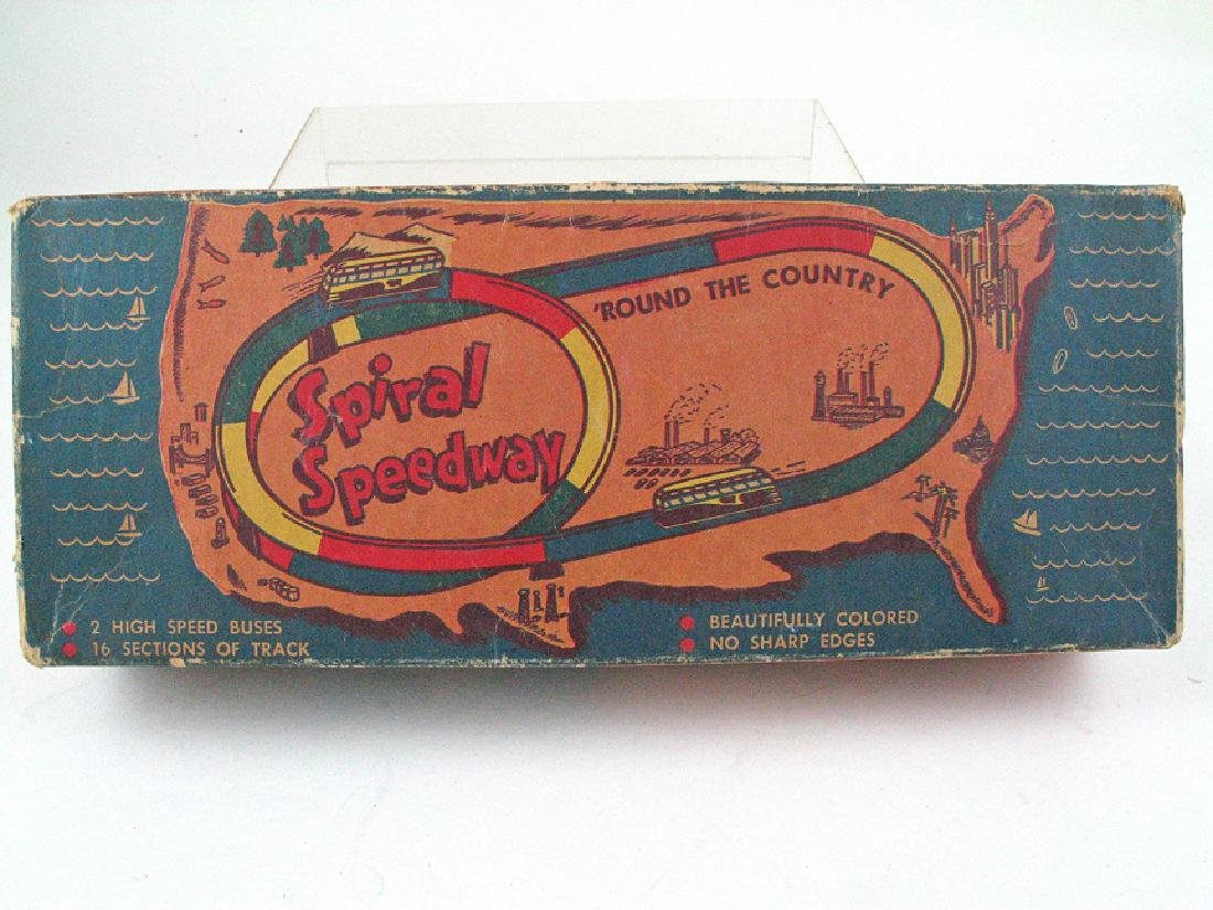 Automatic Toy Co Spiral Speedway In Box