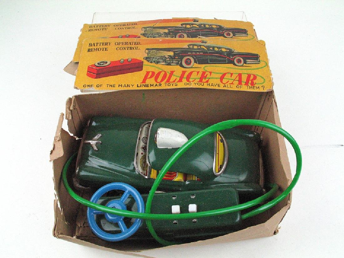 Linemar Batt Op Police Car Tin Litho
