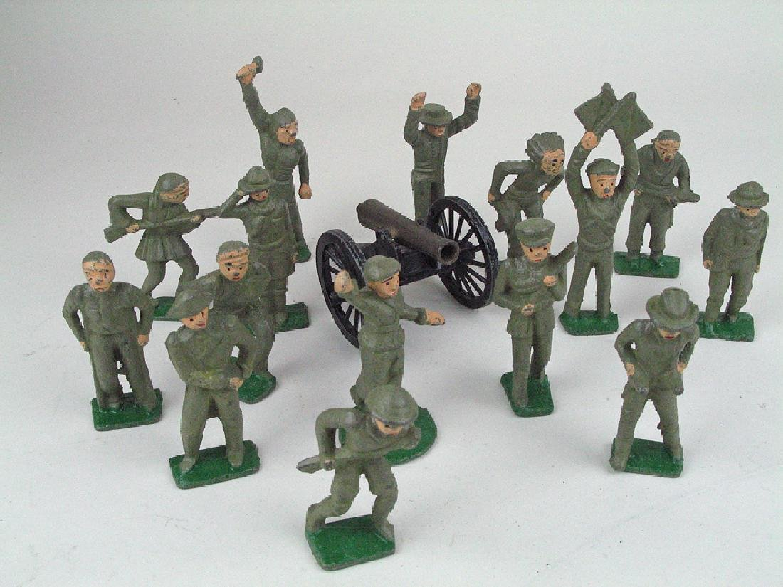 Cast Iron Soldier Lot