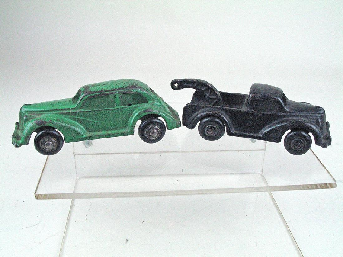 Arcade Cast Iron Car Lot Wrecker