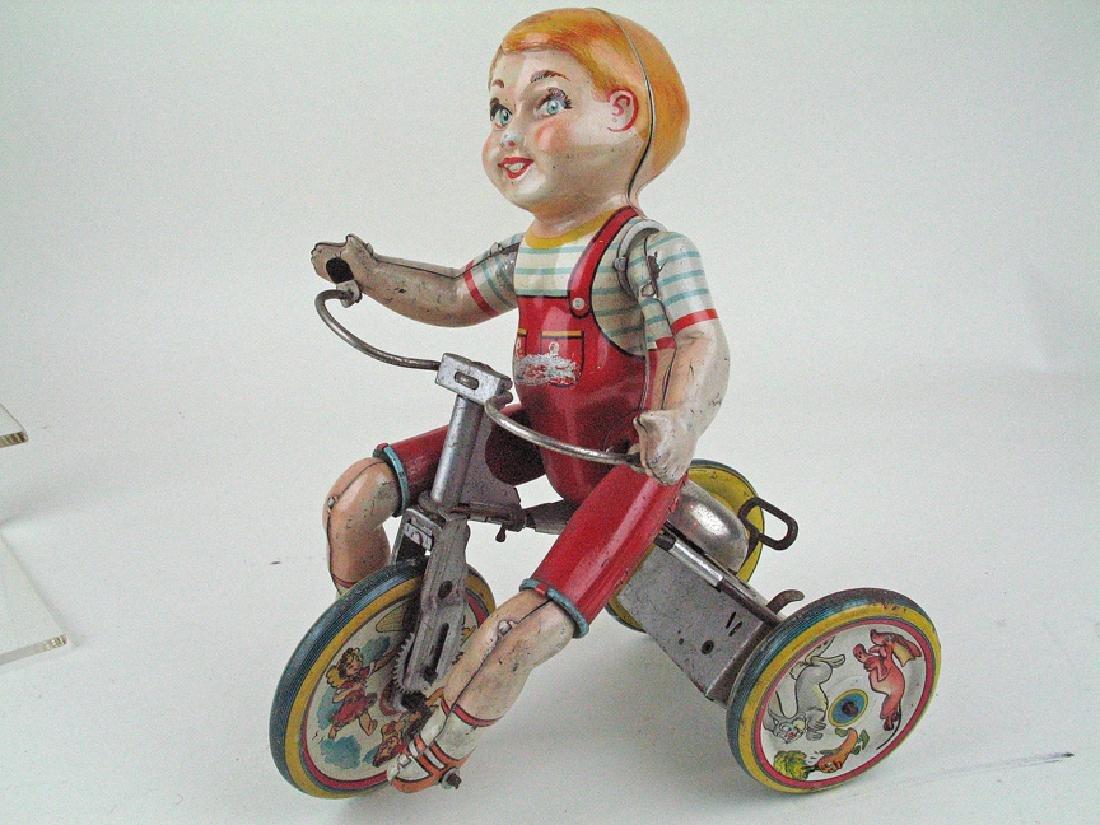 Unique Arts Kiddy Cyclist Tin Litho