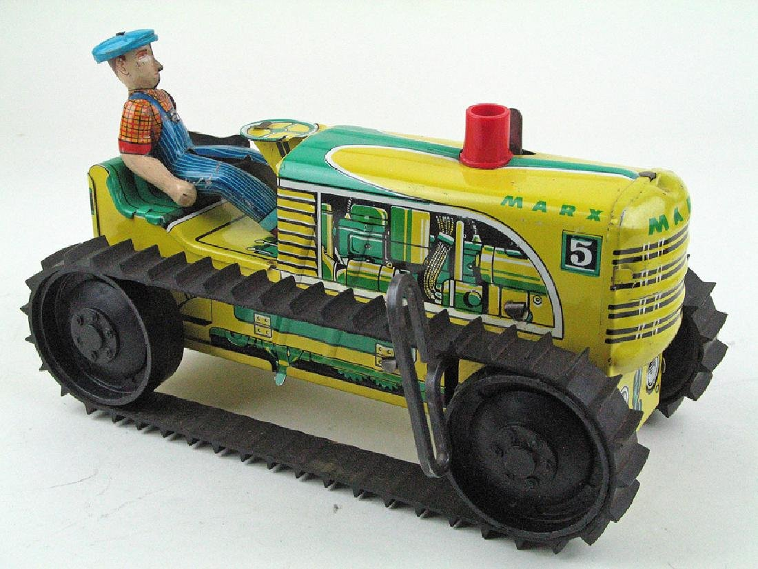 Marx Tractor Tin Litho Wind Up
