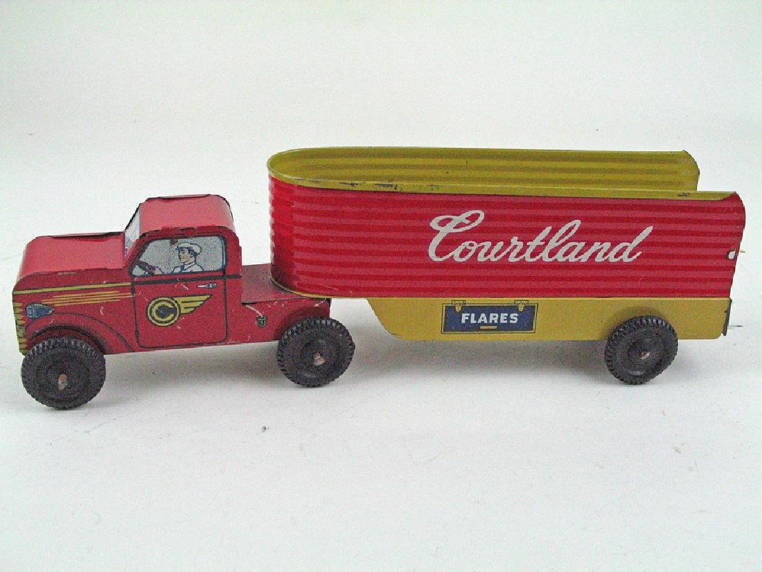 Courtland Tractor Trailer Tin Litho