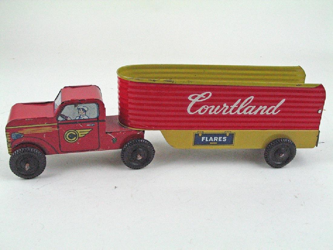 Courtland Tractor Trailer Tin Litho